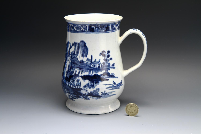 1078 -  A rare Vauxhall mug of large size, c 1760