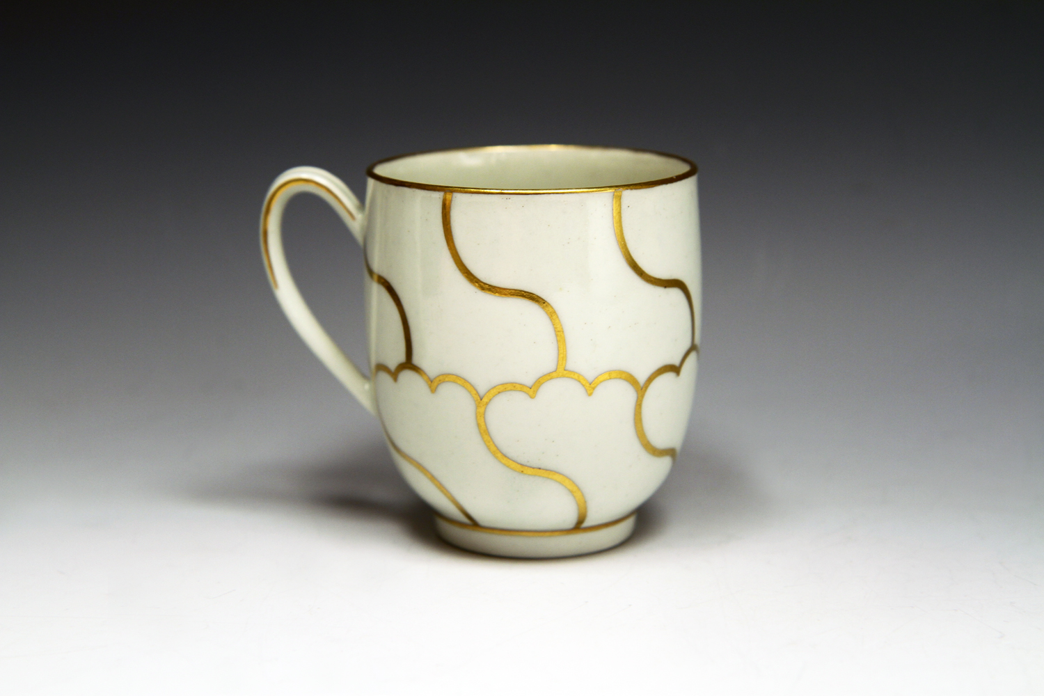 1058 - A good Worcester coffee cup and saucer c 1775